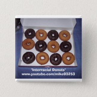 Interracial Donuts 15 Cm Square Badge