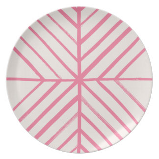 Intersect Dinner Plate - Magenta