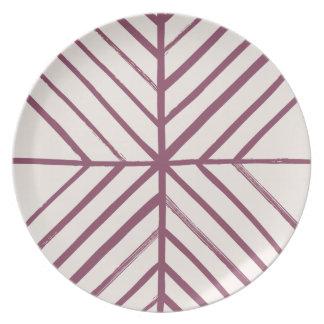 Intersect Dinner Plate - Merlot
