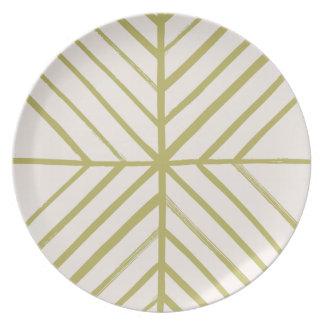 Intersect Dinner Plate - Moss