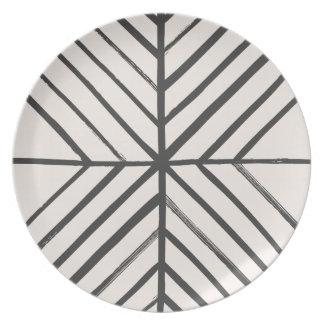 Intersect Dinner Plate - Slate
