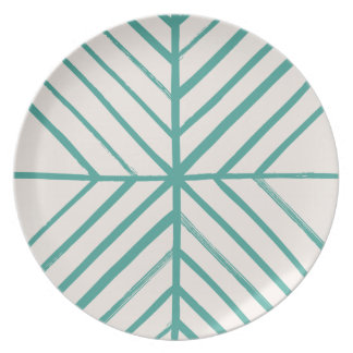 Intersect Dinner Plate - Teal