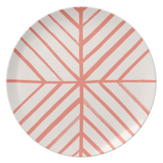 Intersect Dinner Plate - Tomato