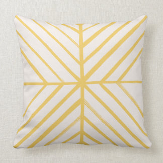 Intersect Pillow - Gold Throw Cushions