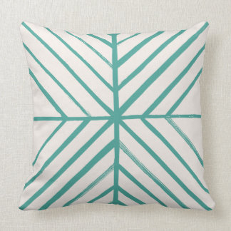 Intersect Pillow - Teal Throw Cushion