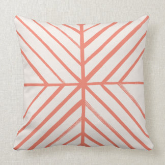 Intersect Pillow - Tomato Throw Cushions