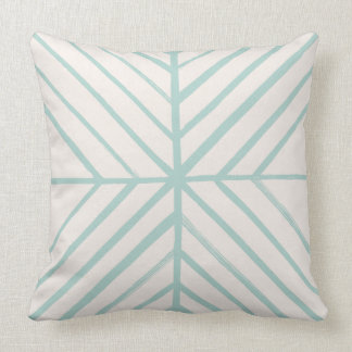 Intersect Pillow - Turquoise Cushions