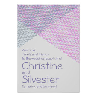 Intersecting Chevrons, reception welcome poster