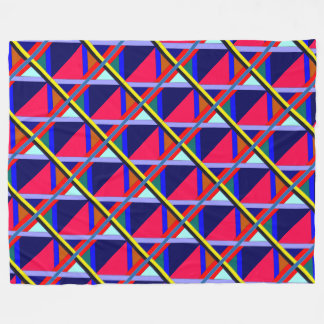 Intersecting Lines of Color Fleece Blanket