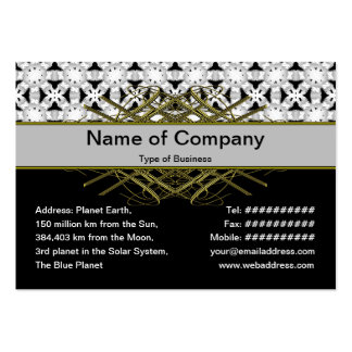 Intersecting Patterns Business Card Templates