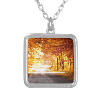 INTERSECTION OF LIGHT AND COLOUR SILVER PLATED NECKLACE
