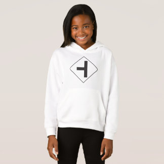 Intersection Road Sign Girls Hoodie