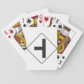 Intersection Road Sign Playing Cards