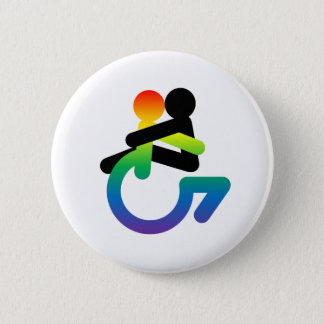 Intersectionality: Queer - Disabled - Lover 6 Cm Round Badge