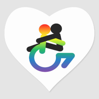 Intersectionality: Queer - Disabled - Lover Heart Sticker