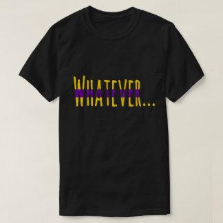 "Intersex Pride Flag Colors ""Whatever"" T-Shirt"