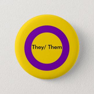 Intersex Pronouns Button They/ Them