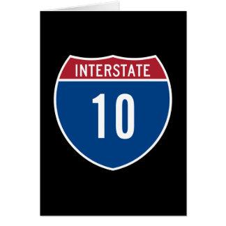 Interstate 10 card