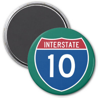 Interstate 10 (I-10) Highway Sign Magnet