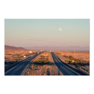 Interstate 10 Moonrise Photo Print