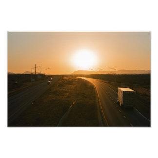 Interstate 10 Sunset Photo Print