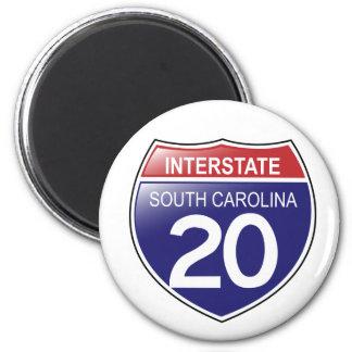 Interstate 20 South Carolina Magnet