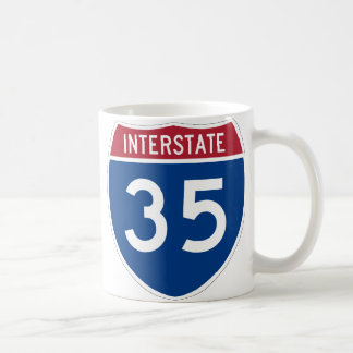Interstate 35 Highway Sign Coffee Mug