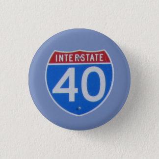 Interstate 40 Shield 3 Cm Round Badge