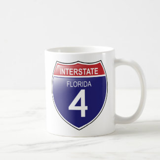 Interstate 4 in Florida with State Outline Mug
