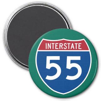 Interstate 55 (I-55) Highway Sign Magnet