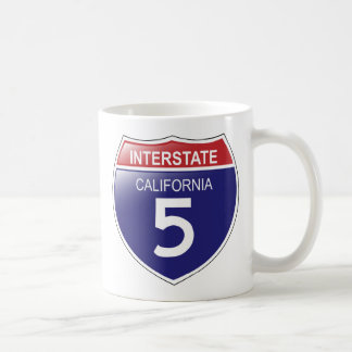 Interstate 5 in California with State Outline Mug