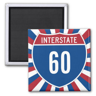 Interstate 60 square magnet