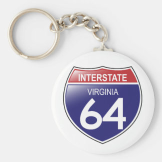 Interstate 64 in Virginia Keychain