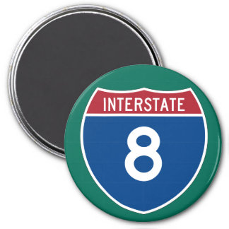 Interstate 8 (I-8) Highway Sign Magnet