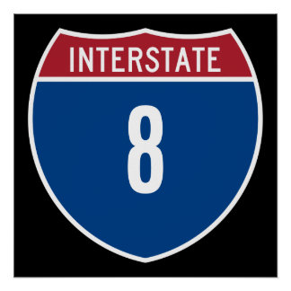 Interstate 8 poster