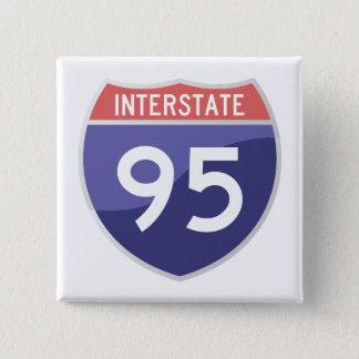 Interstate 95 (I-95) Road Trip Travel 15 Cm Square Badge