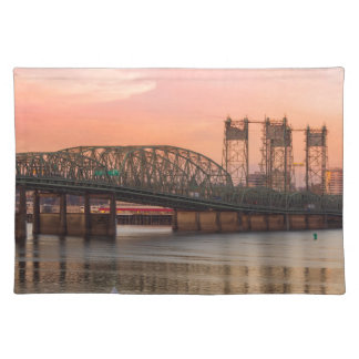 Interstate Bridge Over Columbia River at Sunset Placemat