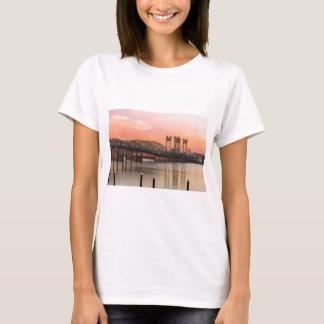 Interstate Bridge Over Columbia River at Sunset T-Shirt