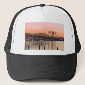 Interstate Bridge Over Columbia River at Sunset Trucker Hat