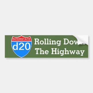 Interstate d20 bumper sticker