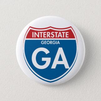 Interstate Georgia GA 6 Cm Round Badge