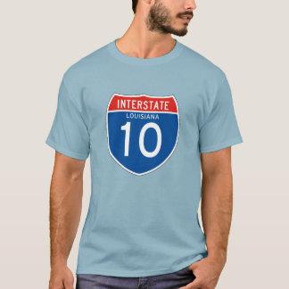 Interstate Sign 10 - Louisiana T-Shirt