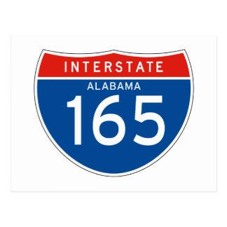 Interstate Sign 165 - Alabama Post Cards
