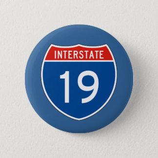 Interstate Sign 19 6 Cm Round Badge