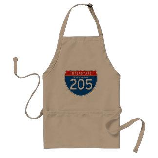 Interstate Sign 205 - Washington Aprons