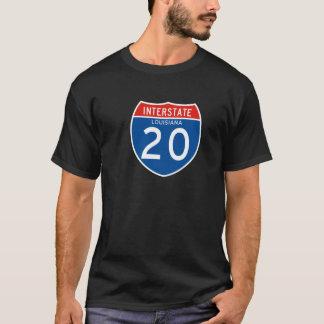 Interstate Sign 20 - Louisiana T-Shirt