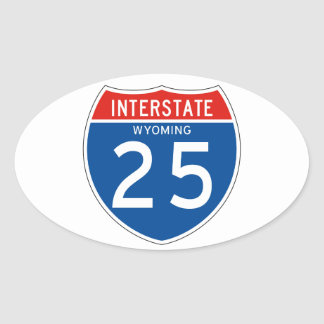 Interstate Sign 25 - Wyoming Stickers
