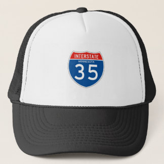 Interstate Sign 35 - Minnesota Trucker Hat