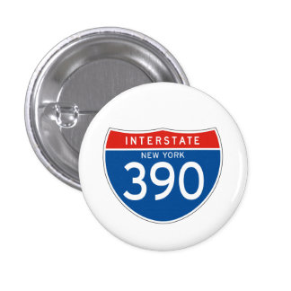 Interstate Sign 390 - New York Pin