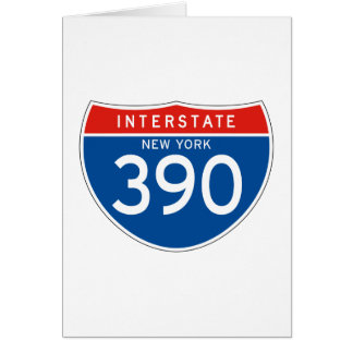 Interstate Sign 390 - New York Greeting Cards
